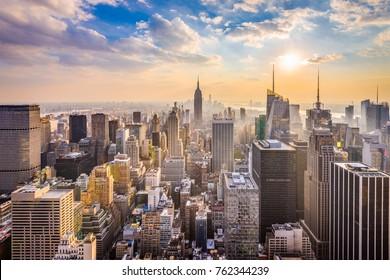 Skyline von New York, New York, USA.