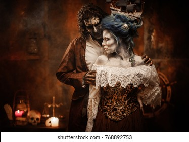 Undead pirate captain and his beloved.