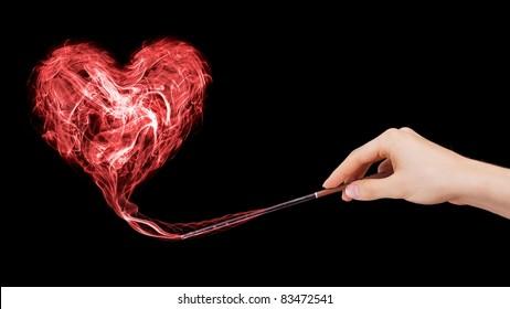 Liefdesbetovering gecreëerd door een tovenaar.