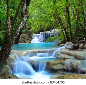 Erawan Wasserfall, Kanchanaburi, Thailand