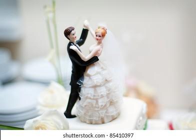 decoración de la boda en el pastel