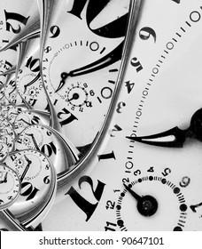 Verzerrte Zeit abstrakt