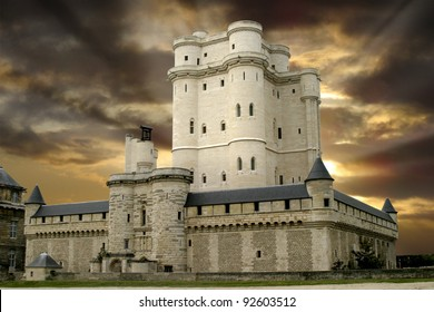 Chateau de Vincennes, Schloss außerhalb von Paris, Frankreich