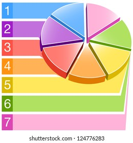 An image of a 3d label pie chart.