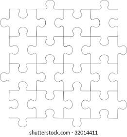 Image. 3d puzzle in color 06. Vector version in portfolio