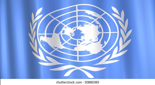 Image of a 3D United Nations flag.