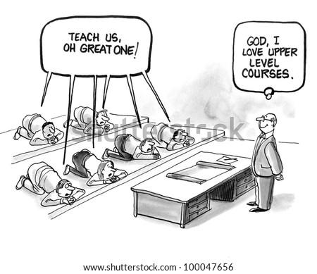 """Student admiration for teacher - """"I love upper level courses."""""""