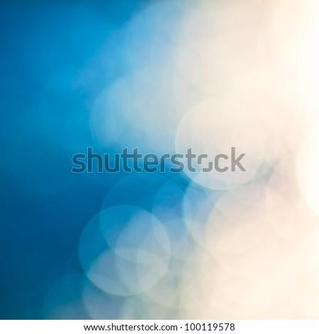 bright colorful sun and sea bokeh background