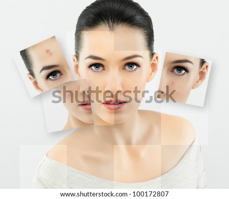 a beauty girl on the grey background #100172807