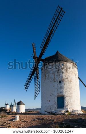 Windmills in Consuegra, Castilla la Mancha, Spain #100201247