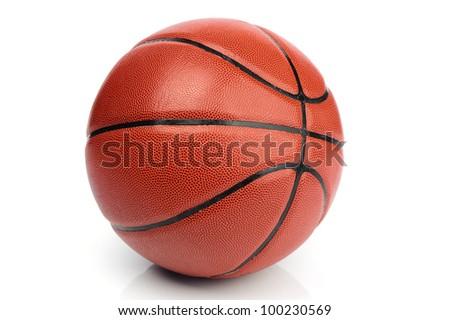 An orange basketball ball on white background #100230569