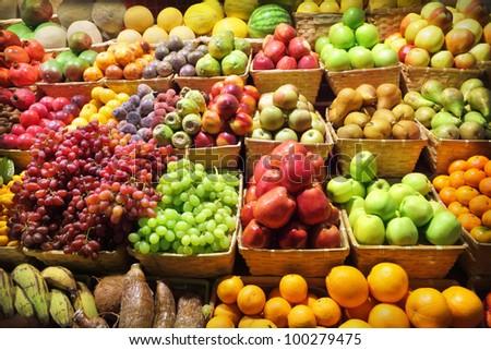 Fresh fruits at a market #100279475