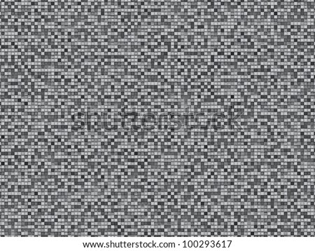 Gray plaid seamless mosaic pattern, background, texture