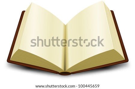 Open Book/ Illustration of a cartoon opened brown book