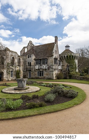 view of scotney castle in kent England #100494817