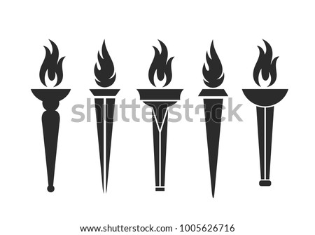 Torch logo. Isolated  torch on white background