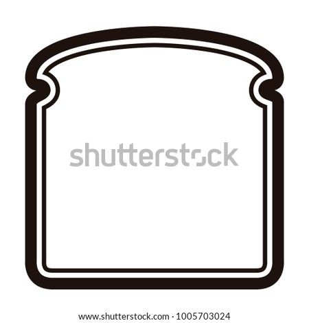 Slice of bread icon on a white background, Vector illustration