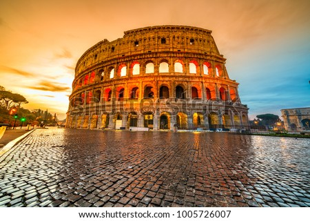 Rome, The Majestic Coliseum. Italy. #1005726007