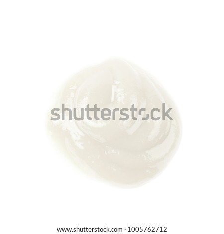 Puddle of food sauce isolated over the white background #1005762712