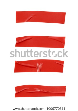 Single piece of insulating tape isolated over the white background, set of four different foreshortenings #1005770311