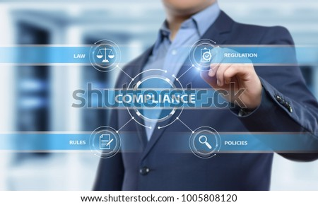 Compliance Rules Law Regulation Policy Business Technology concept. #1005808120
