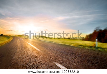 Empty road with slight motion blur #100582210