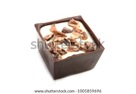 exclusive collection chocolate sweets isolated on the white #1005859696