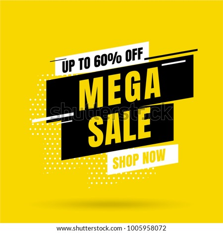 Sale banner template design, Big sale special offer. end of season special offer banner. vector illustration. Royalty-Free Stock Photo #1005958072