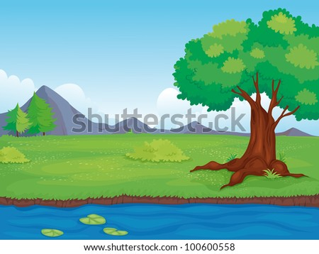 Illustration of an empty rural landscape - EPS VECTOR format also available in my portfolio.