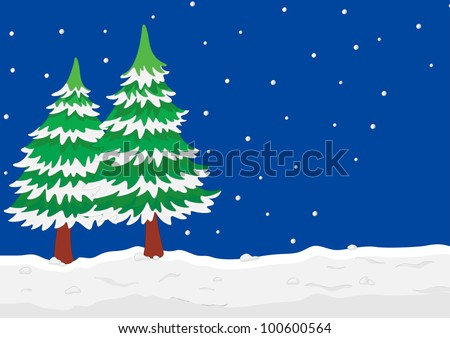 Illustration of a winter scene - EPS VECTOR format also available in my portfolio.