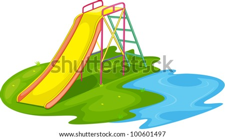 Illustration of an empty playground - EPS VECTOR format also available in my portfolio.