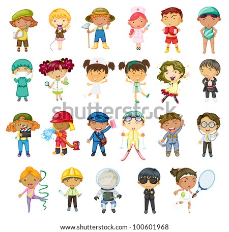 Illustration of jobs of the world - EPS VECTOR format also available in my portfolio.