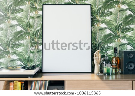 Frame mockup in interior