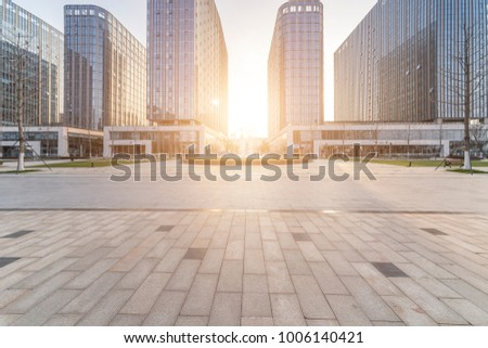 modern building and beautiful park, china.  Royalty-Free Stock Photo #1006140421