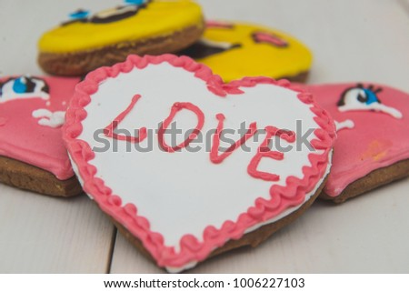Cookies heart on Valentine's Day #1006227103