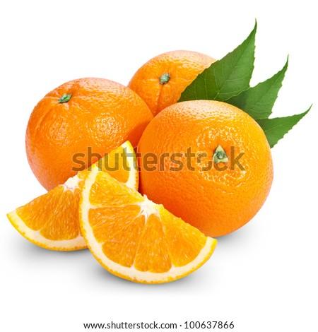 Orange fruit isolated on white background #100637866