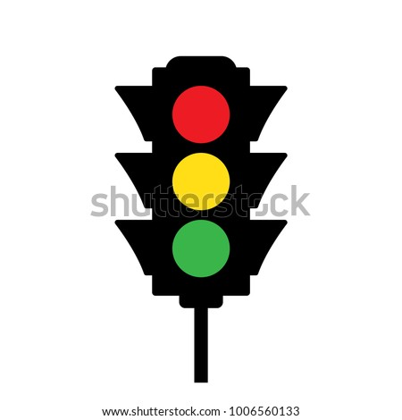 Colored traffic light icon. Vector illustration