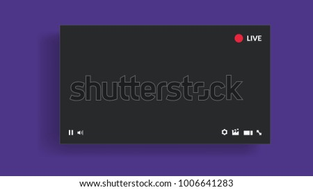 Live stream video player Royalty-Free Stock Photo #1006641283