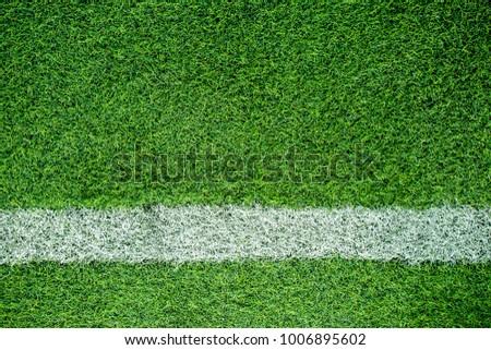 white stripe on soccer field #1006895602