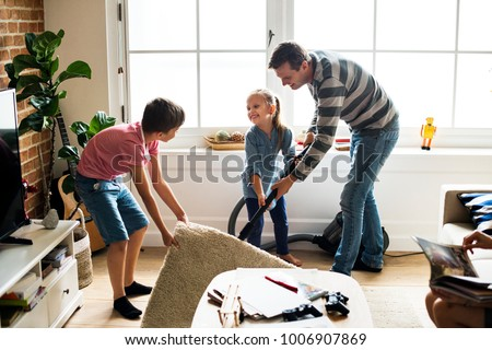 Kids helping house chores #1006907869
