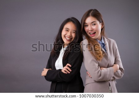 strong successful, laughing buseness women team #1007030350