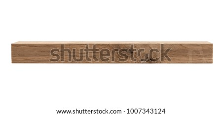 wooden bar isolated on white background Royalty-Free Stock Photo #1007343124