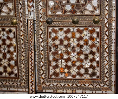 Ottoman art example of Mother of Pearl inlays #1007347117