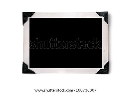 Blank photo with corner tabs