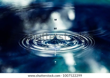 Blue water drop Royalty-Free Stock Photo #1007522299