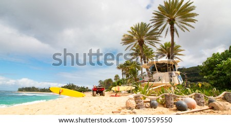 Sunset Beach on Oahu's North Shore Royalty-Free Stock Photo #1007559550