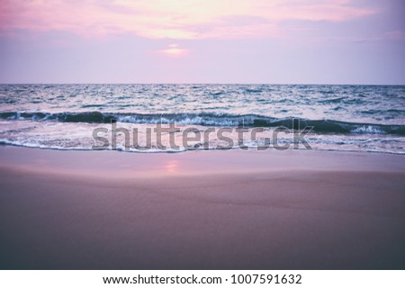 Beautiful landscape. Sunset on the sea shore. #1007591632