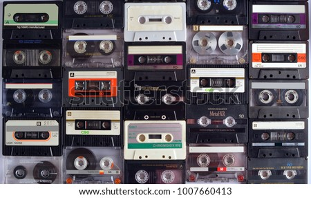 Texture of audiocassette tapes #1007660413