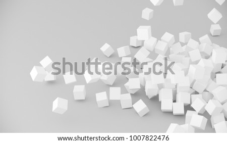 3D Rendering Of Abstract Pile Of Cubes Background #1007822476