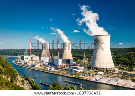 Tihange Nuclear Power Station in Belgium Royalty-Free Stock Photo #1007906431
